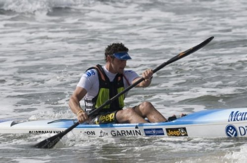 Barry Lewin in action during the 2010 Durban Surfski Winter Series